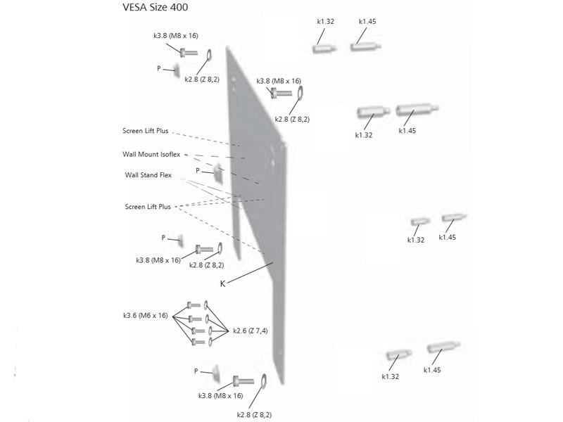 Loewe Wall Mount Slim Vesa Size 400 71361t00