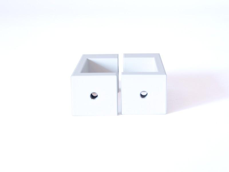 monlines mbre40w befestigungsrechteck f r rohre 35 40mm wei. Black Bedroom Furniture Sets. Home Design Ideas