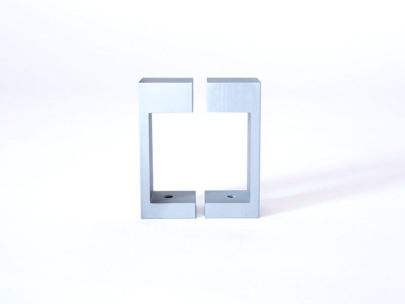 monlines 2 teiliges befestigungsrechteck f r rohre 45x45 50x50mm vogels. Black Bedroom Furniture Sets. Home Design Ideas