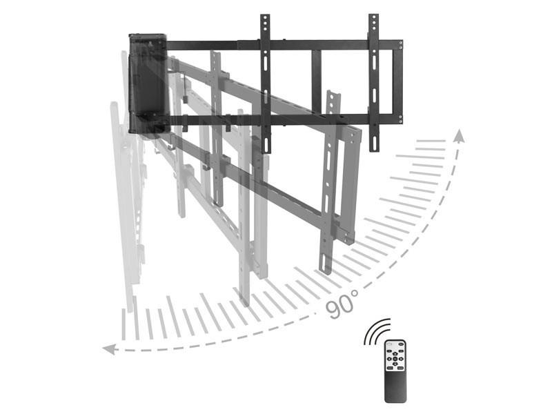 Fesselnd MonLines MySwing M04 Elektrische TV Wandhalterung