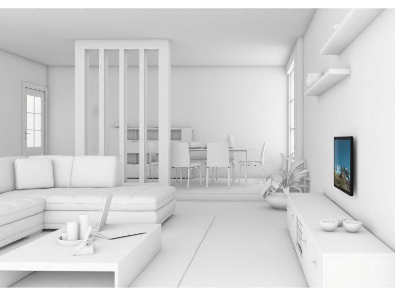 vogels wall 2005 starre tv wandhalterung schwarz. Black Bedroom Furniture Sets. Home Design Ideas
