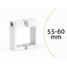 monlines mbre60w befestigungsrechteck f r rohre 55 60 mm wei. Black Bedroom Furniture Sets. Home Design Ideas