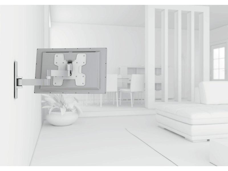 vogels wall 2145 schwenkbare tv wandhalterung wei. Black Bedroom Furniture Sets. Home Design Ideas