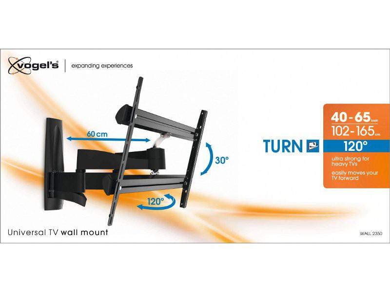 vogels wall 2350 schwenkbare tv wandhalterung schwarz. Black Bedroom Furniture Sets. Home Design Ideas