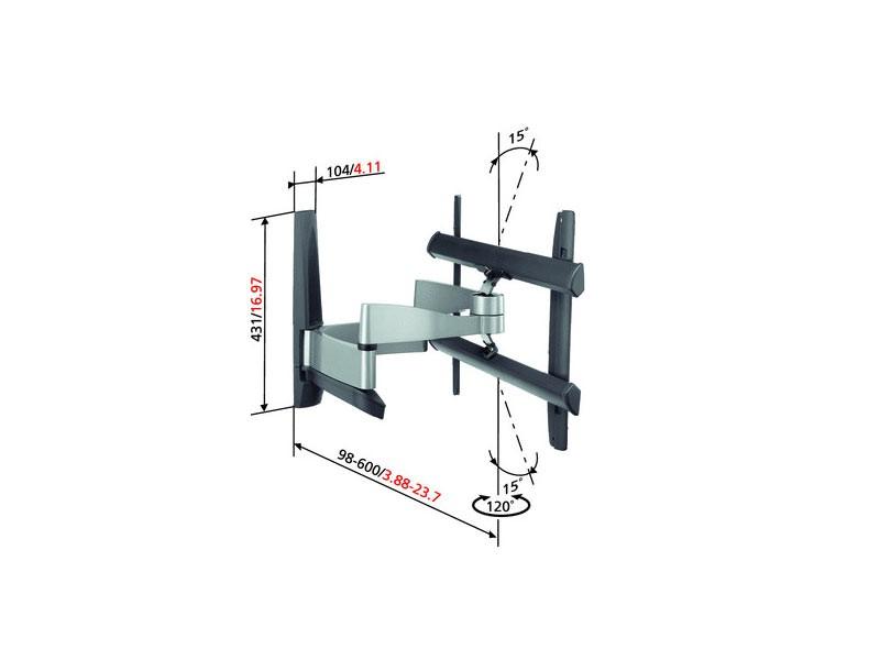 eol vogels efw 6345 plus tv wandhalterung. Black Bedroom Furniture Sets. Home Design Ideas